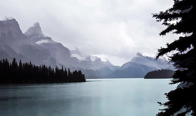 banff Lake Painterly