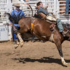 Riding bronco at Cave Creek Rodeo 30 March 2014 _