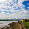 northern irish coast with cottage