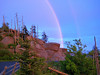 Rainbow  at sunset  Clingmans Dome Great Smoky Mountains National Park