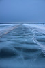 The ice road out to Madeline Island Wisconsin.
