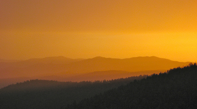 Sunset from Clingmans Dome Great Smoky Mountains National Park