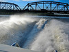 Hitting a swell after passing under the Stillwater bridge back in June 06.