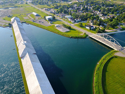 Hydroelectric plant Sault Ste. Marie Michigan.