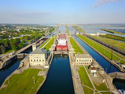 Soo locks Sault Ste. Marie Michigan