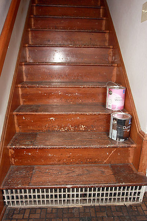 Stairs were originally carpeted.