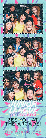 Snapping photos at the #arcadenightjle! The 80s never looked so good. Thanks to everyone for coming out and supporting Junior League of Eugene!  Looking for an awesome photo booth for your next event? Head to bluebuscreatives.com for more info! We've got special pricing for non-profits to help bring the fun of our booths to your next event.  Love this photo? Head to findmysnaps.com/jlearcade2016 to buy prints and more!