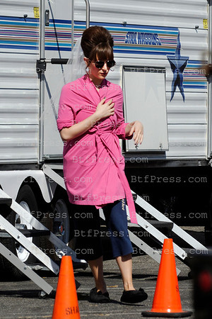 "Joan Cusack at the base camp during the set of the TV series "" Shameless "" in Los Angeles,California."