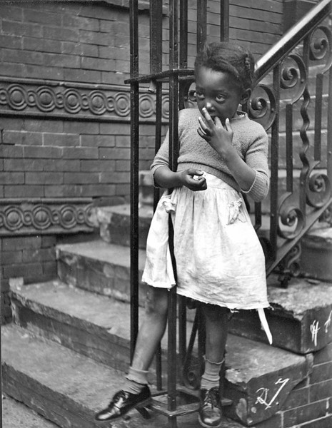 Harlem NYC.  9 3/4 x 7 3/8 in. (24.8 x 18.7 cm.)