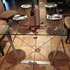 """DINING TABLE with CURVED EDGES -  63""""•160cm wide x 36""""•91cm deep  =  $1,500"""