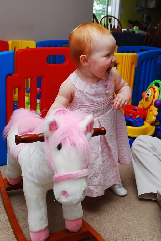 Joanna in Papa's Dress 6-14-09