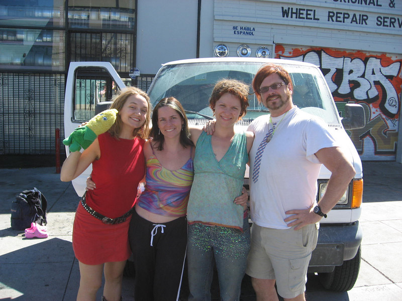 Corn, Jennie, Joanna, Betsy & Christopher (our sleep-deprived traveling crew)