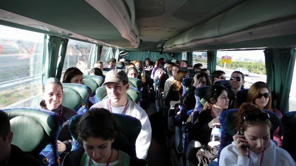 On the bus, the very first day (I'm next to Oren) (stolen from Marc)