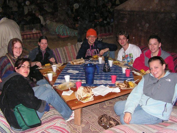 Dinner in the Bedouin tent (stolen from Meredith)