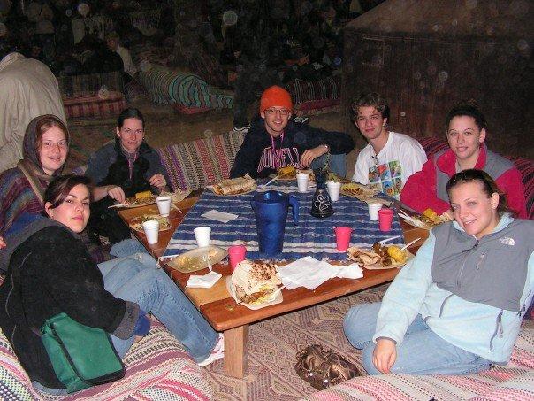 Dinner in the Bedouin tent (stolen from Meredith)