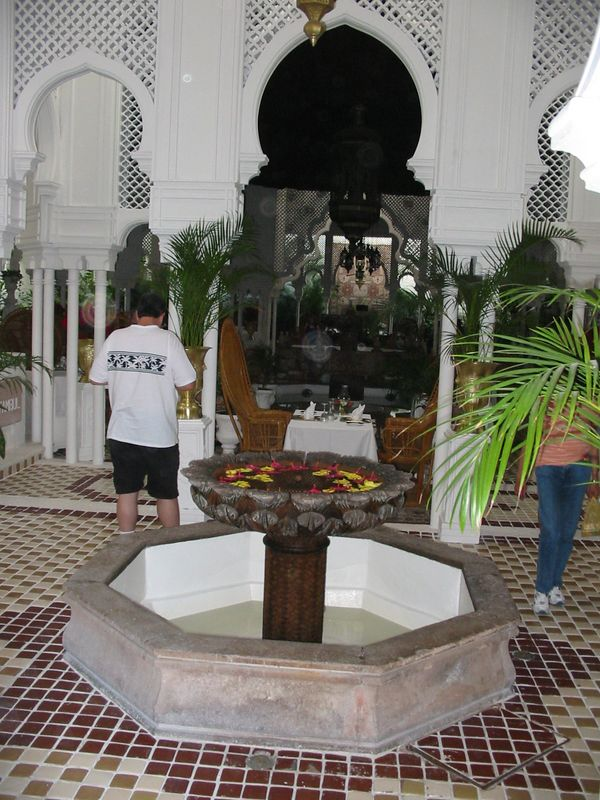 Fountain inside Bogart's, a restaurant based on the movie Casablanca