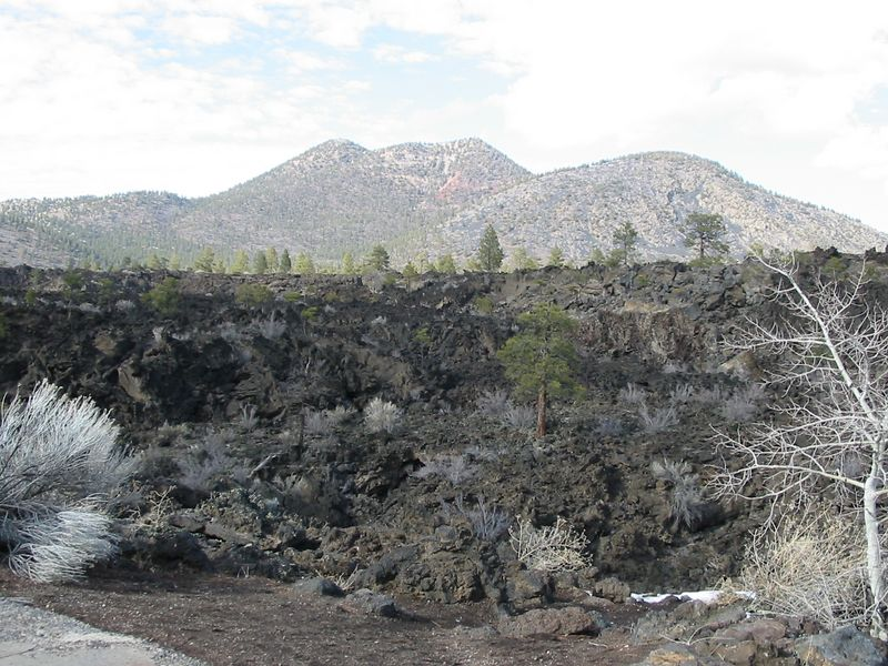 Lava flow at Sunset Crater