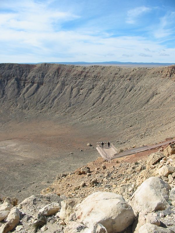 Side of Meteor Crater