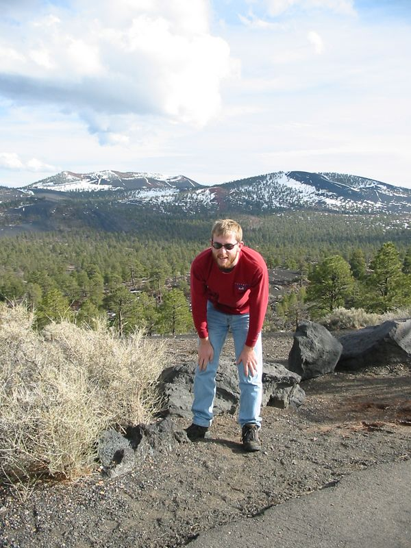 Bruce at Sunset Crater viewpoint