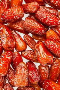 dry dates on the white background
