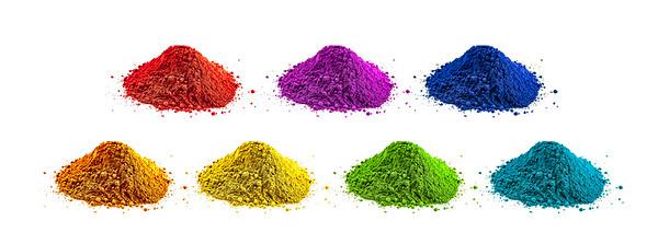 Colorful powder knoll