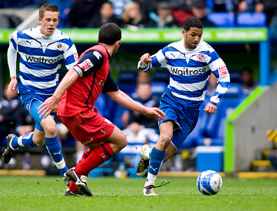 READING, ENGLAND - MAY 2:  during the Coca Cola Championship match between Reading FC and Preston North End FC at The Madejski Stadium on May 2, 2010 in Reading, England. (Photo by Ben Hoskins/Reading FC)