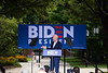 Former Vice President Joe Biden addresses a crowd of about 400 on Appian Way at Keene State College on Saturday, August 24; KELLY FLETCHER, REFORMER CORRESPONDENT