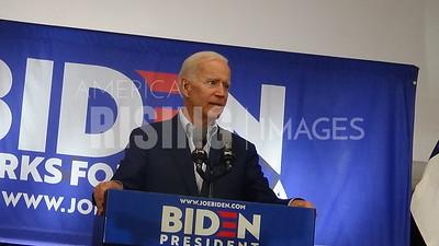 Joe Biden attends rally in Davenport, IA