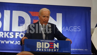 Joe Biden attends rally in Davenport, IA