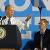 Joe Biden At Hillary Clinton Campaign Rally With Ted Strickland In Warren, OH