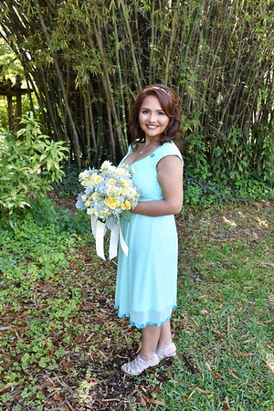Beautiful wedding at USF Botanical Garden, Tampa FL