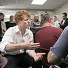 Joe Kennedy III visited Our Father's House in Fitchburg on Saturday afternoon, September 21, 2019. Kennedy chats with residents during his visit. SENTINEL & ENTERPRISE/JOHN LOVE