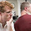 Joe Kennedy III visited Our Father's House in Fitchburg on Saturday afternoon, September 21, 2019. Kennedy listens  Steve a resident of Our Father House tell his story on why he is there. SENTINEL & ENTERPRISE/JOHN LOVE