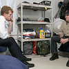 Joe Kennedy III visited Our Father's House in Fitchburg on Saturday afternoon, September 21, 2019. Kennedy chats with Fitchburg's Director of Homeless Services Kevin MacLean in one of the bedrooms at the shelter. SENTINEL & ENTERPRISE/JOHN LOVE