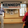 Joe Kennedy III held a town hall meeting at Leominster Public Library Saturday, Jan. 25, 2020. Kennedy answers the question about the environment from Eric Stassen, 11, from Leominster. SENTINEL & ENTERPRISE/JOHN LOVE