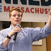 Joe Kennedy III held a town hall meeting at Leominster Public Library Saturday, Jan. 25, 2020. Kennedy addresses the crowd at the event. SENTINEL & ENTERPRISE/JOHN LOVE