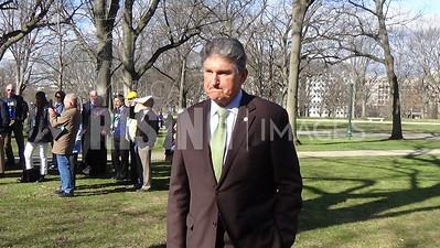 Joe Manchin At No Labels Rally In Washington, DC