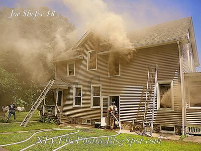 2 Alarm House Fire - 50 Norwich Ace, Taftville, CT - 6/28/18