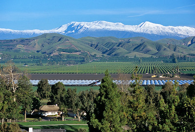 Snow Covered Mountains and Las Posas Valley, Camarillo
