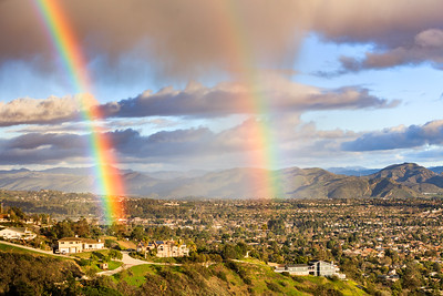 Double Rainbow and Clearing Storm in Camarillo