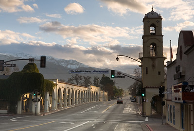 Downtown Ojai at Dawn