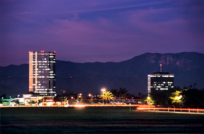 Oxnard Towers at Dusk