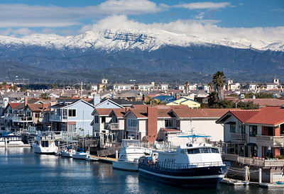 Snow Capped Mountains Channel Islands Harbor