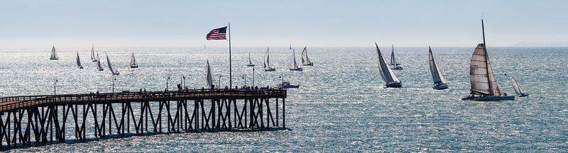 Sail Boat Race off Ventura Pier