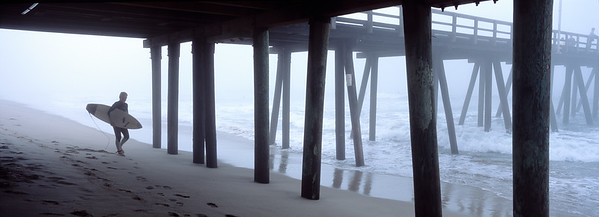 Port Hueneme Pier, Fog and Surfer