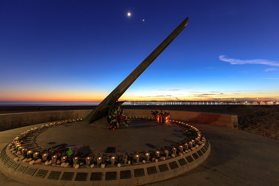 Dusk, Port Hueneme Memorial Sundial