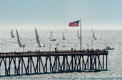 Sailboat Race at the Ventura Pier