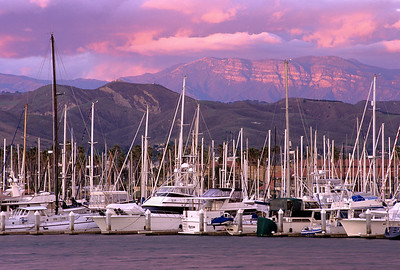 """Pink Moment"", Ventura Harbor"