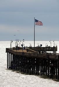 Backlit Pier