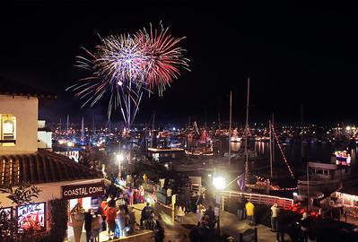 Fireworks at the Ventura Harbor Christmans Parade of Lights